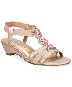 0190d8416b Karen Scott Casha Wedge Sandals, Created for Macy's & Reviews - Sandals & Flip  Flops - Shoes - Macy's