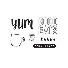 Let's Eat - Good Eats Stamp by Elle's Studio