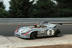 The Elford/Larrousse Porsche 908/03 on its way to victory at the Nürburgring 1000km 1971.