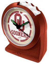Oklahoma+Sooners+Gripper+Alarm+Clock+$19.99+http://www.beyondgraduation.com/Oklahoma-Sooners-Gripper-Alarm-Clock-_-873694710_PD.html?social=pinterest_pfid35-64586