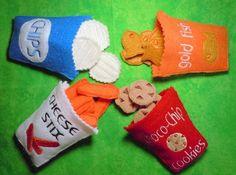 bagged snacks {felt food}