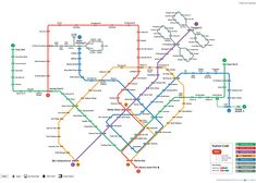 This is an example of a wayfinding system design where it provides information to help people to get to their destination. Singapore Map, Singapore Malaysia, Singapore Public Transport, Master Shifu, Hazel Park, Open Street Map, Subway Map, Environmental Graphic Design