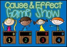 Cause and Effect Jeopardy style game show! Common Core aligned and excellent practice for your 2nd to 4th Grade students. With 25 practice problems, in a game show setting, your students will get lots of review.