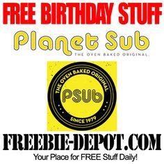 FREE BIRTHDAY STUFF – Planet Sub - FREE BDay Sub