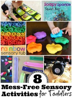 8 mess-free sensory activities for toddlers that you and your kiddo will both enjoy.