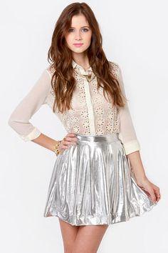 #Lulus                    #Skirt                    #Royal #Highness #Metallic #Silver #Skirt           Royal Highness Metallic Silver Skirt                                          http://www.seapai.com/product.aspx?PID=1814264