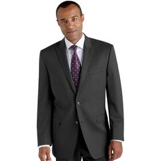 Calvin Klein Charcoal Slim-Fit Suites for my groom and the groomsmen! Differentiating with the ties & boutineers!
