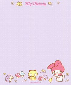 """Sanrio My Melody """"Variety"""" Letter Set Kawaii Wallpaper, Colorful Wallpaper, Sanrio, Washi, Snail Mail Pen Pals, Folders, Memo Notepad, Kawaii Crafts, Cute Frames"""
