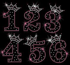 Birthday Number tiara crown iron on rhinestone by MyFairysCloset