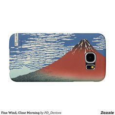 Fine Wind, Clear Morning Mount Fuji Japanese Woodblock Print Samsung Galaxy S6 Cases