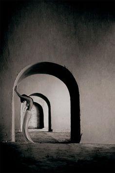 mercuro b. cotto - Stunning! beautiful, woman, female, doors, walls, skin, nude, sensual, photograph, photo b/w.