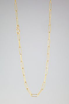 """HANDMADE 18K LIGHTWEIGHT CHAIN  2,800.00 HANDMADE LIGHTWEIGHT CHAIN, 18K; 18"""" LONG  AVAILABLE IN STERLING SILVER AND 18K LIGHTWEIGHTIN THE FOLLOWING LENGTHS: 14"""", 16"""", 18"""", 20"""", 22"""", 24"""", 26"""", 28"""", 30"""", 32"""", 34""""; PLEASE CALL TO SPECIAL ORDER,8 WEEKS PRODUCTION TIME  *CURRENTLY ONLY AVAILABLE FOR SPECIAL ORDER, 6-8 WEEKS PRODUCTION TIME"""
