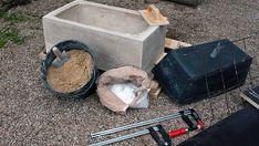 Arbeitsmaterial für ein selbst gegossenes Waschbecken