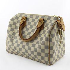 168965b54ba Sac à main Louis Vuitton Speedy 25 Damier Azur Authentique d occasion