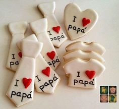 Man Cookies, Iced Cookies, Royal Icing Cookies, Cupcake Cookies, Rose Cookies, Fathers Day Cake, Fathers Day Crafts, Happy Fathers Day, Diy Arts And Crafts