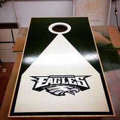 philadelphia eagles corn hole board | Philadelphia Eagles Cornhole ...