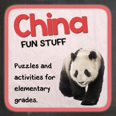 China (Fun stuff for elementary grades) from Thematic Worksheets on TeachersNotebook.com -  (13 pages)  - Let's explore China with puzzles and other fun activities. This supplemental resource is great for a country unit.