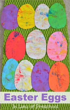 Shaving Cream Easter Eggs – Sensory Lesson Plan #Easter #Preschool #Daycare