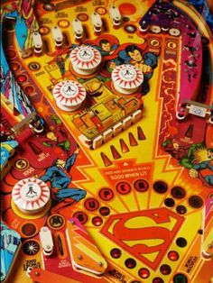"Atari's ""Superman"" playfield."