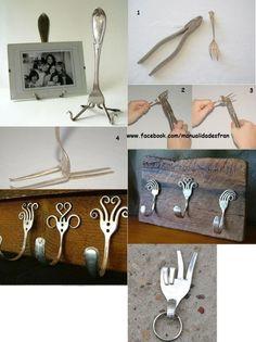 DIY decoração com garfos