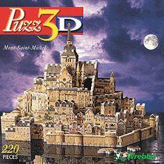 puzz3d by wrebbit, mont st michel, gothic abbey of medieval pilgrims, montsaintmichel