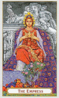 The Tarot of Prague- The Empress    #TarotSweetDreams Empress- I care for my family, I nurture my passions, I grow my kids up right, I am Lover to my Emperor & all is right.      www.twitter.com/blogspot