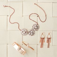Rose gold & rosy cheeks! Blush through the season in warm-toned metal.