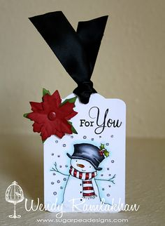 Adorable Snowman tag!