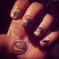 Egyptian Lover Nail Decals/ Nail Wraps/ Nail by KawaiiNailKandy