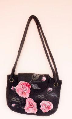 Filz-Tasche aus Wolle Rose