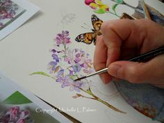 Lilac in progress... watercolor