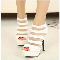 342s211 Sexy fishnet martin style sandals, high heel, size 35-39, white for R480.00
