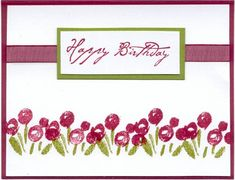 Happy Birthday Garden by jennypooh624 - Cards and Paper Crafts at Splitcoaststampers