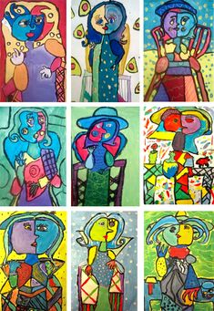Super Picasso Art Projects For Kids Collage Deep Space Ideas Winter Art Projects, Art Projects For Teens, Cool Art Projects, Art For Kids, Kunst Picasso, Picasso Art, Deep Space Sparkle, Dora Maar, Big Wall Art