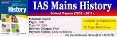 IAS Mains - HISTORY Solved Papers