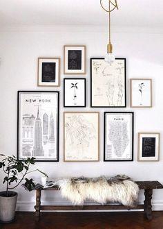 Pretty gallery wall | Gallery wall | Gallery walls | Gallery wall ideas | Gallery wall layout | Gallery wall living room | Gallery wall ideas living room | Gallery walls & wall art ideas