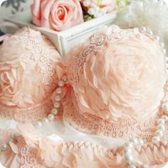 (2 sets) three-dimensional roses hierarchy Lace the Dream Bra Set bra bar Japanese