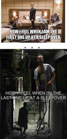 Sleepovers.