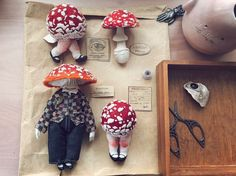Life of Amanita Aesthets: Amazing Characters by Yinyue Duzii, фото № 24 Diy And Crafts, Arts And Crafts, Mushroom Art, Creepy Cute, Clay Dolls, Sewing Toys, Fairy Dolls, Textiles, Clay Art