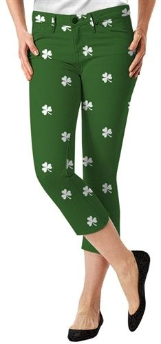 af3ffb69b Womens Golfing Shamrocks Capris by Loudmouth Golf. Buy it now @  ReadyGolf.com. ReadyGOLF · St Patricks Day Golf Gear