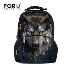 Buy now FORUDESIGNS Men backpack Big Multifunction, Wolf Shark Printing Backpacks Men's Bagpack Teen Boys School Back Pack Bag 2017 Hot just only $25.43 with free shipping worldwide  #backpacksformen Plese click on picture to see our special price for you