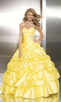 Yellow Ball Gown Prom Dresses | Yellow Prom Dresses-Yellow Prom Dress-Yellow Prom Gowns