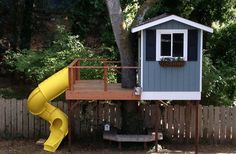 Simple Tree House Kids Design Ideas, Pictures, Remodel and Decor