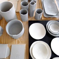 Textural Blue Stoneware: Elephant Ceramics + west elm