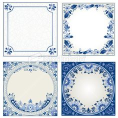 Idee: Dutch night event board Delft blue designs - room for text - or use elements separately for your design Delft Tiles, Blue Tiles, Design Room, Blue Pottery, Free Vector Art, Vector Graphics, Free Illustrations, Blue Design, Tile Patterns