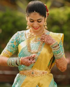 Pretty bride @sritha.dudipala 💖 . Visit www.pellikuthuru.com and book your vendors today ✨