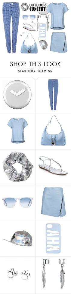"""""""Outdoor Summer Concert"""" by yours-styling-best-friend ❤ liked on Polyvore featuring NeXtime, Armani Jeans, Mads Nørgaard, Bulgari, Monki, Prada, Oliver Peoples, Criminal Damage and Bling Jewelry"""