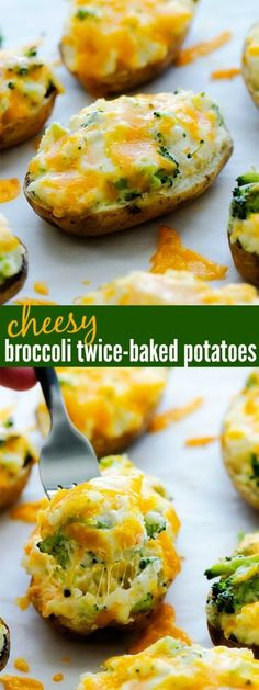 Cheesy Broccoli Twice-Baked Potatoes