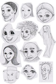 How to draw whimsical faces