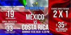 Este domingo te esperamos para disfrutar el partido de México en el Bebedero de la Paloma de la Paz !!!!